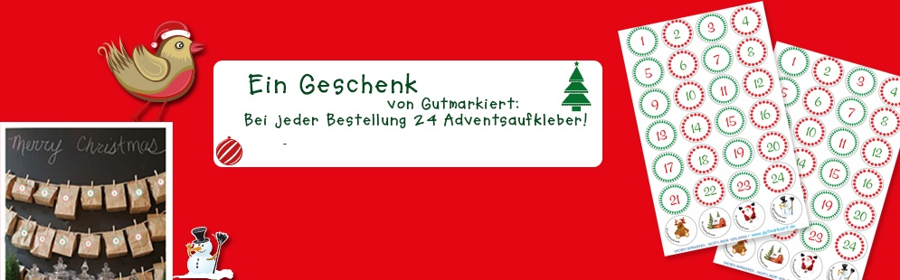 gratis advent namens aufkleber